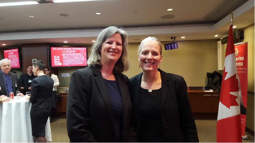 Anouk Hoedeman with Ottawa Centre MP, Catherine McKenna