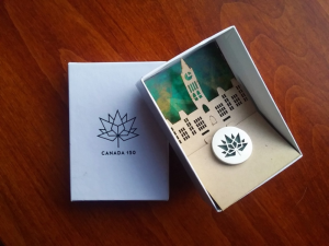 The Canada 150 Community Builder Award Commemorative Pin